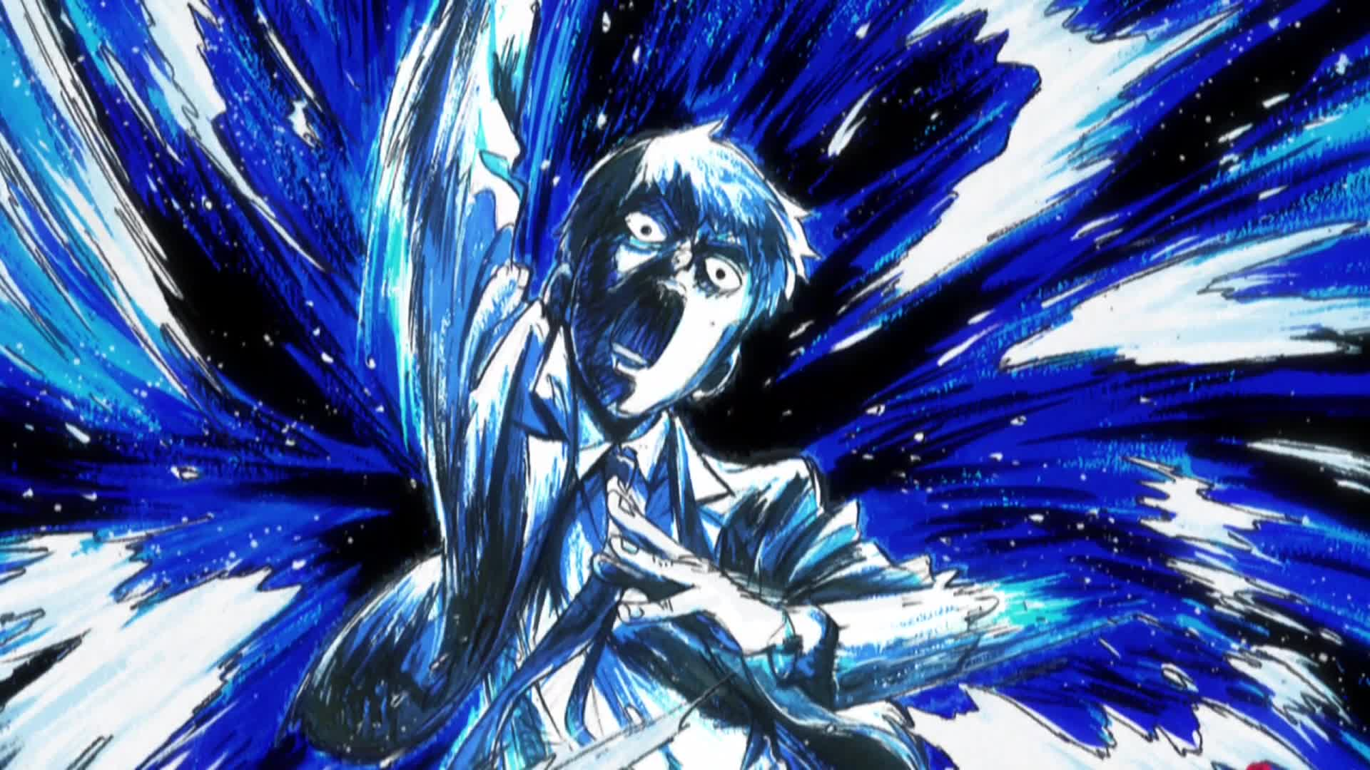 Paint On Glass Mob Psycho